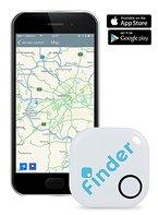 musegear® Schlüssel-finder (weiß) & App | Keys, Handy, Fernbedienung, Portmonee bequem wieder-finden & tracken statt Suchen | Nerven schonen, Zeit sparen | Smartphone Bluetooth-GPS-Kopplung