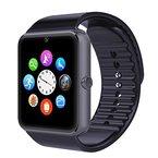 YAMAY® Bluetooth Smartwatch Uhr Intelligente Armbanduhr Fitness Tracker Armband Sport Uhr Telefon mit SIM-Kartenslot/Kamera/Schrittzähler/Schlaftracker/Romte Capture Kompatibel mit Android Smartphone