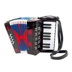 Akkordeon für Kinder, mit Schulterriemen zum bequemen Bespielen, viele Tasten für die verschiedensten Melodien