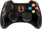 Speedlink Torid Amazon Edition kabelloses Gamepad für PC/PS3 (bis zu 10 Stunden Spielzeit, X-Input und Direct-Input, Vibrationsfunktion, Schnellfeuerfunktion) orange/schwarz