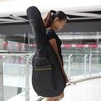 Andoer Wasserabweisende Gitarrentasche / Rucksack, 600D, Schultergurte, Seitentaschen, 5mm Baumwolle, gepolstert, schwarz, für 39/40/41 Zoll / 99-104 cm Gitarren