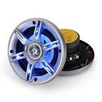 Auna 13cm Auto Lautsprecher 3-Wege Koaxial Boxen-System mit blauem LED-Lichteffekt (600 Watt, 70Hz bis 20kHz, 6 LED's) CSLED5