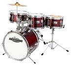 XDrum Junior Kinder Schlagzeug Drumset (2-5 Jahre) inkl. Schule mit DVD rot