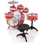 Spielzeug Schlagzeug Trommel Musikinstrument mit Stuhl ,Kinder Trommel, NEU KP9242