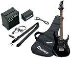Ibanez IJRG200-BK Jumpstart Set E-Gitarre (Amp, Gigbag, Gurt, Kabel, Plektren, Zubehörtasche) schwarz