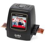 Jumbl hochauflösender 22 MP All-In-1 Scanner / Digitalisierer - Konvertiert 35 mm Negativfilme, 35mm Dias, 110, 126, 127 und Super 8 Filme auf 22-Megapixel Digital JPEGs - Kein Computer / keine Software erforderlich, um das Gerät zu bedienen - Funktionen 2,4-Zoll-Color-LCD und TV-Ausgang - Inklusive Schnell-Last-Adapter für schnelles, wiederholtes Scannen von Dias und Negativen