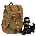 TARION® M-01 Kamerarucksack Fotorucksack Kameratasche Stativ Befestigung Geräumige Fächer für SLR DSLR Kameras und Objetive & Zubehör Grün