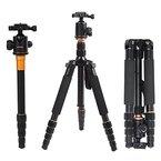 Andoer® Q-666 Pro SLR Kamera-Stativ Einbeinstativ Kugelkopf Changeable Tragbare Compact Reisen