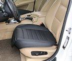 Edelyn Qualitäts-Auto Sitzbezug Vordersitz Schutzabdeckung für VW Golf Audi A4 -Toyota Corolla Camry Rav4-Honda Pilot Odyssey Accord CR-V Civic (M, schwarz)
