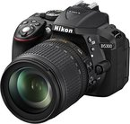 Nikon D5300 SLR-Digitalkamera (24,2 Megapixel, 8,1cm (3,2 Zoll) LCD-Display, Full HD, HDMI, WiFi, GPS, AF-System mit 39 Messfeldern) Kit inkl. AF-S DX 18-105 VR Objektiv schwarz