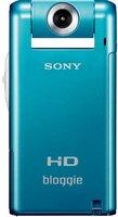 Sony MHS-PM5KL Bloggie Pocket-Camcorder (5 Megapixel, 6,1 cm (2,4 Zoll) LCD Farb-Display, 360 Grad Videoaufnahme) blau