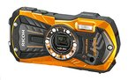 Ricoh WG-30W Digitalkamera (16 Megapixel, 5x opt. Zoom, 7,2x dig. Zoom, 6,9 cm (2,7 Zoll) Display, HDMI, WiFi, USB 2.0) orange