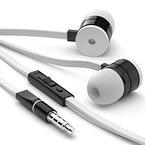 esorio® In Ear Kopfhörer mit Lautstärkenregler für iOS und Android in weiß