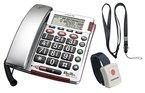 Audioline - Audioline BIGTEL 50 Alarm Plus - Telefon mit Schnur - Silber