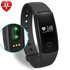 Fitness Tracker Smart Armband mit Pulsmesser, YAMAY® Bluetooth Smart Armbanduhr Sport Schrittzähler Aktivitätstracker mit Herzfrequenzmonitor / Schrittzähler / Kalorienzähler / Schlaf-Monitor, kompatibel mit iPhone IOS und Android-Handy