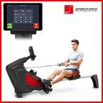 Sportstech RX500 Rudergerät mit Smartphone steuerbar - Fitness App mit Trainingsergebnis - 12 Ruderprogramme + 4 Pulsprogramme - 16 Widerstandsstufen - Wettkampfmodus - Pulsgurt kompatibel - klappbar