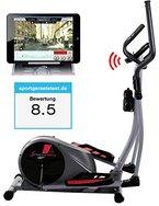 Sportstech CX610 Profi Crosstrainer mit Smartphone App Steuerung + Google Street View, Schwungmasse 18 KG, HRC - Bluetooth - 32 Widerstand Stufen - Heimtrainer Ergometer Ellipsentrainer Stepper-Hammer Preis,Aktion nur für kurze Zeit!!