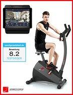 Sportstech Ergometer EX500 mit Smartphone App Steuerung + Google Street View Lauf + 5,5 Zoll Display, 12KG Schwungmasse, Pulsgurt kompatibel - Fitness Bike Heimtrainer mit flüsterleisem Riemenantrieb