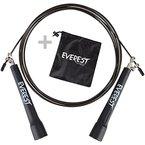 EVEREST FITNESS Profi - Springseil mit Kugelgelenk / High Speed Seil / Crossfit Cross Fit Seil für Sportler mit 5 Jahren Zufriedenheitsgarantie