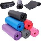 TRESKO Fitnessmatte Yogamatte Pilatesmatte Gymnastikmatte in 6 Farbvarianten / Maße 185cm x 60cm in 2 Stärken / Phthalates-getestet / NBR Schaumstoff / hautfreundlich, anschmiegsam, kälteisolierend (Lila, 185 x 60 x 1.5 cm)