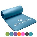 #DoYourFitness Fitnessmatte Yogini ideal für Pilates Gymnastik und Yoga Maße: 183 x 61 x 1.0 cm himmelblau, 122566220