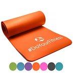 Portable Fitnessmatte »Sharma« / dick und weich, ideal für Pilates, Gymnastik und Yoga, Maße: 183 x 61 x 0,8cm, orange