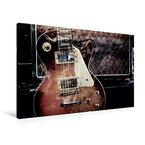 Premium Textil-Leinwand 90 cm x 60 cm quer, Blues Rock | Wandbild, Bild auf Keilrahmen, Fertigbild auf echter Leinwand, Leinwanddruck: Les Paul ... Style vor Gitarrencombo (CALVENDO Kunst)