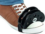 Meinl Percussion FJS2S-BK Foot Tambourine mit Edelstahlschellen, schwarz