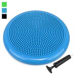 Trideer® Balance Boards/Air Stability Wobble Cushion/ Exercise Disc Balance Cushion/ Fitness Stability Pad/Air Balance Cushion - Black/Blue/Green, 34cm/13.4 in Diameter, 4cm/1.57inch by Height, Pump Included (blue)