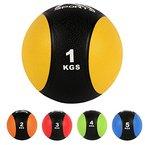 Medizinball 1 kg - Professionelle Studio-Qualität Gymnastikbälle (1 kg - Gelb)
