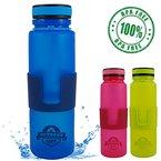 Faltbare Trinkflasche aus BPA freiem Silikon, 650 ML, Spülmaschinenfest, Wasserflasche, Falt-Flasche aufrollbar für Sport, Fitness, Schule, KiTa, Kindergarten Arbeit, Reise, Sport. (Großer Deckel | Blau)