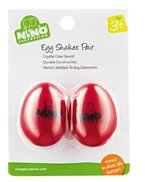 Nino Percussion NINO540R-2 Egg-Shaker Normale Größe in Rot 2er Set