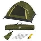 Lumaland Outdoor leichtes Pop Up Wurfzelt 3 Personen Camping robust verschiedene Farben Grün