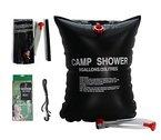 Ailiebhaus Portable 20L PVC Outdoor Camping Solarenergie Shower Bag Solardusche Wasser Beutel (Schwarz)