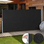 Jago Seitenmarkise Sonnenschutz Sichtschutz Windschutz - diverse Farben und Größen (schwarz / 180x300cm / SMKS01-180SW)