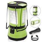 LE Aufladbare LED Camping Laterne mit 2 abnehmbaren Mini Taschenlampen 600lm , Wasserdichte Zeltleuchte, Notfallleuchte inkl. USB-Kabel + KFZ-Ladegerät, Aussenleuchte für Camping, Wandern, Notfall Outdoor