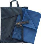 Sunland Extra Leicht und Kompakt Schnelltrocknendes Saugfähiges Mikrofaser Reisehandtuch Sporthandtuch Fitnesshandtuch Badetuch Saunatuch Handtüch (Schiefer blau, 60cmx120cm)
