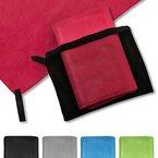 casa pura® Mikrofaser Handtuch Magic Dry | Rubinrot | 80x180 | schnelltrocknend | platzsparend in Netztasche unterbringbar