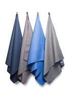 Bahidora Microfaser Handtuch, Sporthandtuch, Reisehandtuch, Mikrofaser Handtuch, Badetuch. Schnelltrocknendes Handtuch. Ideal für: Backpacking, Trekking, Outdoor, Schwimmbad, Camping, Yoga und Fitnessstudio (grau / blau, Groß (70 x 130cm))