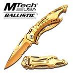 MTech Ballistic Midas Touch Klappmesser / Einhandmesser, Gold, A705GD #MT