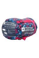 Mountain Warehouse Apex Mini gemusterter Schlafsack Camping outdoor Zelten für Kinder Rosa