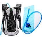 Juboury Hadration Pack - Trinkrucksack inklusive 2L Trinkblase zum Laufen, Wandern, Radfahren und für alle anderen Outdoor-Sportarten bei der Sie Flüssigkeit benötigen (Schwarz)
