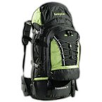 AspenSport Rucksack Expedition, schwarz/grün, 50 x 38 x 23 cm, 70 Liter, AB06Y05