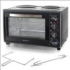 2in1 Single-Küche - Ofen und Kochplatte in Einem, Campingherd mit Doppel-Kochplatte und 28L Backofen bis 230°
