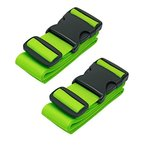 CSTOM 2 Stück Koffergurt Kofferband Koffer Gepäckgurte Lang, Grün