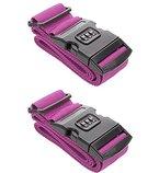 2 Stück Kofferband Koffergurt Kofferschloss Gepäck Schloss Zahlenschloss (PinK),all-around24®