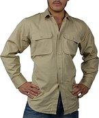 Tropenhemd Deserthemd Diensthemd Safarihemd Langarm Größe L