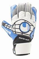 uhlsport Kinder Handschuhe ELIMINATOR STARTER SOFT, weiß/schwarz/energy blau, 5, 100018301