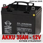 Akku 35Ah 40Ah 12V AGM Blei GEL Batterie Golf Caddy Cart Golfwagen Mover Elektromobil Scooter