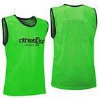 10 Fußballleibchen - Trainingsleibchen - Leibchen - Markierungshemden von athletiKor ® (Grün, Bambinis / E Jugend S: 50X44CM)